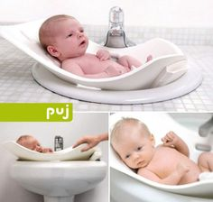 puj-baby-bath-tub  Too cute and awesome not to post. I REALLY wish I had known about this, my back would have thanked me.