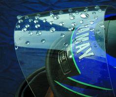 Helmet visor with a Nanotechnology Sealant by www.nanotechnology-solutions.com