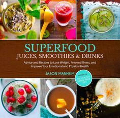 SuperFood Juices Smoothies & Drinks Advice & Recipes: Shows that one juice or smoothie a day made of green vegetables such as kale, cucumber, celery, & spinach are great for organ health, immune system & weight loss. It offers recipes to help introduce healthy drinks. Apples, bananas, avocados, cherries, chia seeds, dark chocolate, carrots, green tea, hot peppers, kiwis, mangoes, nuts & oats, lemons & limes, peaches, spinach & more foods that you can get at your grocery.
