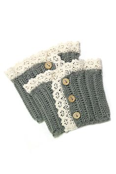 Crocheted Lace Boot Topper
