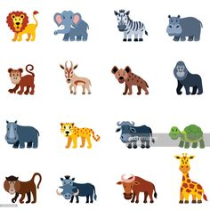stock illustration : African Wild Animals Jungle Animals, Animals And Pets, Baby Animals, Wild Animals, Animals Photos, Funny Animal Videos, Funny Animal Pictures, Animal Memes, Animal Paintings