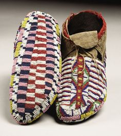 Sioux Beaded Moccasins, 1890