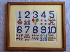 Handmade Cross Stitch Nursey Picture by ReclaimYouth on Etsy