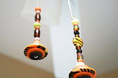Two Light Pull / Ceiling Fan Pull / Warm Colors / by Funktini