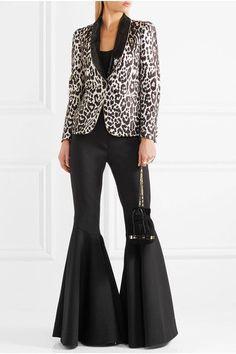 Roberto Cavalli - Sequin-trimmed Leopard-jacquard Blazer - Leopard print - IT38