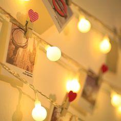 LED Globe String Lights, Warm White, Garden Party Christmas Decoration