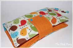 """Nappy Wallet """"Bermuda Birds""""   The Pink Pony   madeit.com.au Nappy Wallet, Having A Baby, Little People, Baby Ideas, Sunglasses Case, Pony, Coin Purse, Birds, Handmade"""