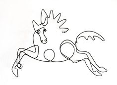 picasso horse line drawing - Google Search