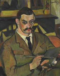 Maurice Utrillo was a French painter who specialized in cityscapes. Utrillo was the son of the artist Suzanne Valadon (born Marie-Clémentine Valadon), who was then an eighteen-year-old artist's model. Portrait of Maurice Utrillo by Suzanne Valadon Renoir, Maurice Utrillo, L'art Du Portrait, Female Painters, Henri De Toulouse Lautrec, French Artists, Figure Painting, Art Day, Art History
