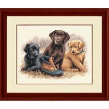 Cross Stitch Kit  Chew Toy and Dogs by CrossStitchKitsOnly on Etsy, $21.50