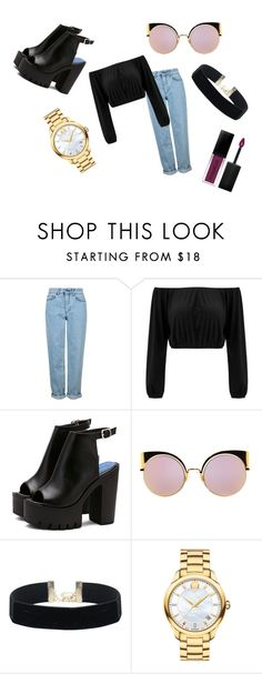 """Untitled #106"" by dttvrg on Polyvore featuring Topshop, Fendi, Movado and Smashbox"