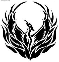 Simple Phoenix Drawing Phoenix Tattoo Vector Phoenix Design Free Illustrations And - Drawing Art Gallery Bird Stencil, Stencil Art, Stencil Designs, Outline Drawings, Bird Drawings, Trendy Tattoos, Tribal Tattoos, Tatoos, Forearm Tattoos