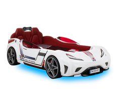 GTI racer wit auto bed kinderkamerjongensbed jongenskamer soundbox