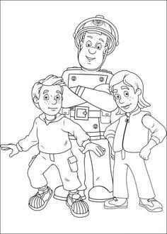 Brandweerman Sam Kleurplaten voor kinderen. Kleurplaat en afdrukken tekenen nº 46