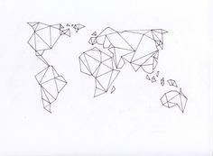 """love to use geometric art/ map of the world as a """"where I am"""" side bar"""