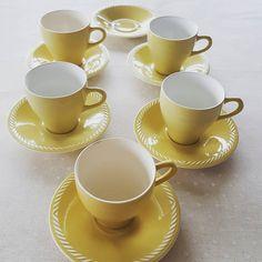 Gul Sissel fra Figgjo. Kaffekopp