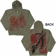 Walking Dead Daryl Costume Hoodie - Use promo code HOLIDAY12 to save!