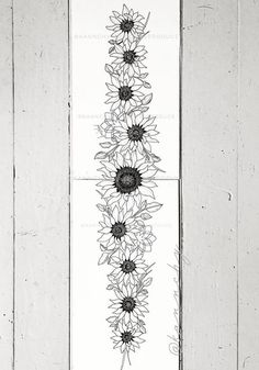 sunflower band tattoo art by Kannchy Sunflower tattoo – Fashion Tattoos Back Tattoos Spine, Flower Spine Tattoos, Tattoo Spine, Spinal Tattoo, Spine Tattoos For Women, Circle Tattoos, Cute Tattoos, Body Art Tattoos, Small Tattoos