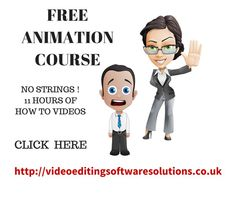 FREE  11 HOURS  OF VIDEO ON HOW TO DO ANIMATION VIDEO. How to to produce what looks like hand drawn cartoons etc NO strings, just click to read more about it.