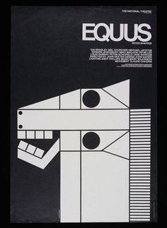 Equus poster designed by Moura-George/Briggs with illustration by Gilbert Lesser, 1973