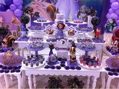 Convites Digitais Simples: decoração aniversário princesa sofia