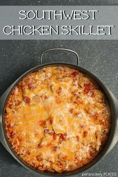 One pot Southwest Chicken Skillet. A perfect weeknight 30 minute meal. {Persnickety Plates}