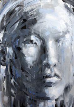 "Saatchi Online Artist: Calum Paterson; Oil, 2012, Painting ""Mannequin Head 2"""