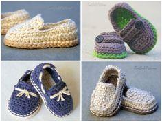 Crochet Pattern Baby boy Lil' loafers super por TwoGirlsPatterns