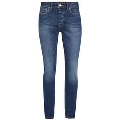TOPMAN Indigo Stretch Skinny Jeans ($42) ❤ liked on Polyvore featuring men's fashion, men's clothing, men's jeans, blue, mens blue jeans, mens super skinny jeans, topman mens jeans, mens skinny fit jeans and mens blue skinny jeans