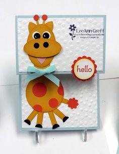 Giraffe Punch Art Card! from Flowerbug's Inkspot