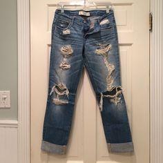 Destroyed boyfriend jeans Classic ripped up boyfriend fitting jeans Abercrombie & Fitch Jeans Boyfriend