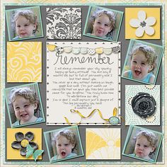 Kit:Remember When  BY: LDrag Designs    Template: That's A Plenty  By: Little Bit Shoppe Designs