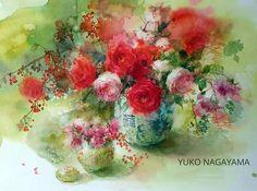 Холст, мольберт, вода и краски... Художница Yuko Nagayama.. Обсуждение на LiveInternet - Российский Сервис Онлайн-Дневников