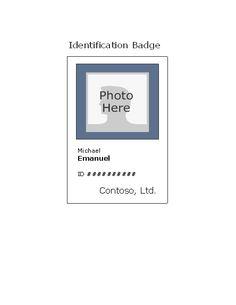 Employee Id Badge (portrait)