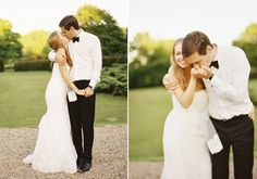 Monique Lhuillier wedding dress   photo by David Jenkins Photography   100 Layer Cake