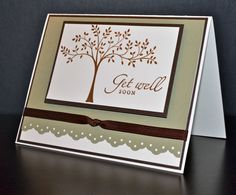Get Well Card Handmade Card Stampin' Up Card by LizzyJaneBoutique