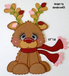 Winter-Reindeer-Paper-Piecing-PreMade-4-Border-Scrapbook-Album-danderson651