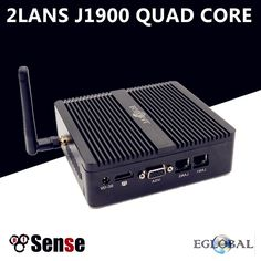 Eglobal Firewall Fanless Mini PC Linux Celeron J1900 Quad Core 2GHz 2*Gigabit Lan Pfsense Router Security Computer 1*HDMI 1*VGA  Price: 129.99 & FREE Shipping #computers #shopping #electronics #home #garden #LED #mobiles #rc #security #toys #bargain #coolstuff |#headphones #bluetooth #gifts #xmas #happybirthday #fun