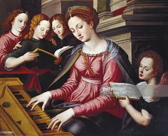 St Cecilia at the spinet, by Sandro Botticelli school (ca 1444-1510). (Photo by…