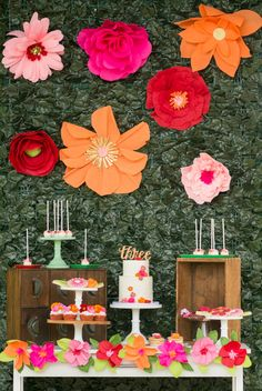 Wildflower Themed Kids Birthday Party - 11