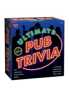 Make it the best game night ever with the fun and challenging Ultimate Pub Trivia Game. This game lets you play against teams and features questions covering 6 different topics such as pop culture, technology and history. Family Fun Games, Family Game Night, Games To Play, Trivia Games Online, Team Games, Snitch, Invite Friends, Trivia Questions, Party Games