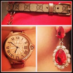 Dinner @ home with my love... These are the accessories of my red Dolce Gabbana dress