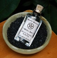 Witch's Salt - Black Hawaiian Sea Salt 1/4 ounce bottle - Banishing, Purifying, Deflecting Negative Energies, Protection, Hex-Breaking. $3.75, via Etsy.