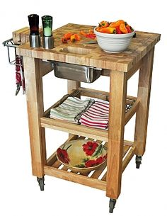 Pro chef prep kitchen cart by Chris & Chris.