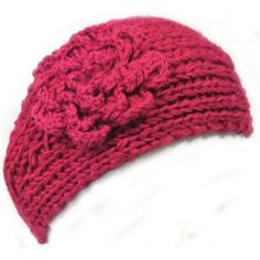 Warm knitted headband with flower. #babyboutique #headband #hairaccessorie