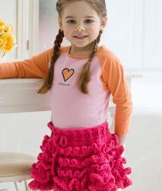 Too Cute Ruffled Skirt Crochet Pattern | Red Heart