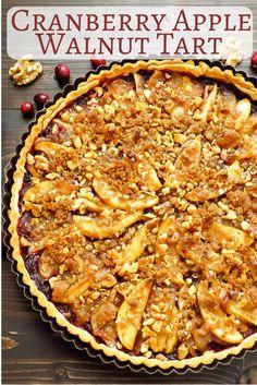 Cranberry Apple Walnut Tart | Garlic & Zest