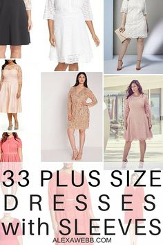 33 Plus Size Wedding Guest Dresses {with Sleeves}! - AlexaWebb.com