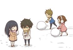 Oreki, Chitanda, Fukube, and Mayaka - Hyouka