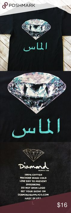 Diamond Supply Co. - Black Tee Diamond Supply Co. - Black Tee (size L). In impeccable preowned condition. Please be sure to check out all of my other men's items to bundle and save. Same day or next business day shipping is guaranteed. Reasonable offers will be considered. Diamond Supply Co. Shirts Tees - Short Sleeve
